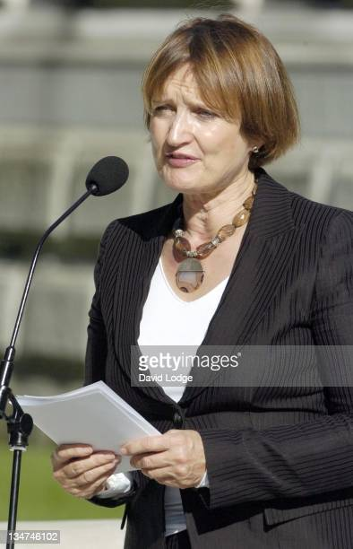Culture Secretary Tessa Jowell MP during Victims of Bali Bombings Memorial Unveiling at St James's Park in London Great Britain