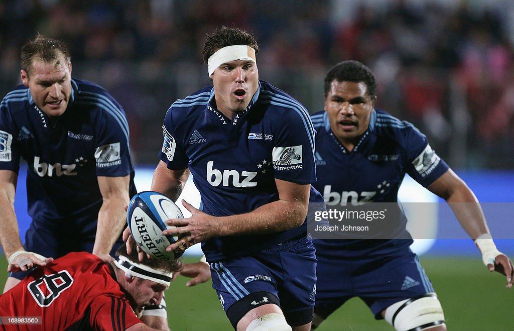 Super Rugby Rd 14 - Crusaders v Blues : News Photo