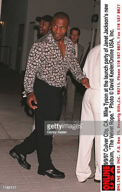 Culver City CA Mike Tyson at the launch party of Janet Jackson's new album The Velvet Rope