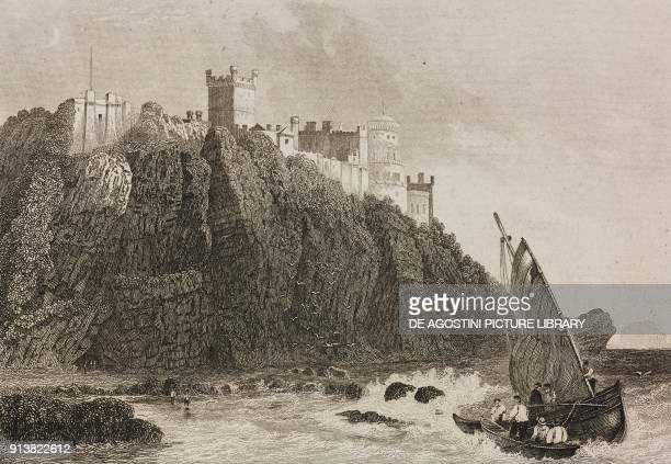 Culzean Castle near Maybole Scotland United Kingdom engraving by Schroeder from Angleterre Ecosse et Irlande Volume IV by Leon Galibert and Clement...
