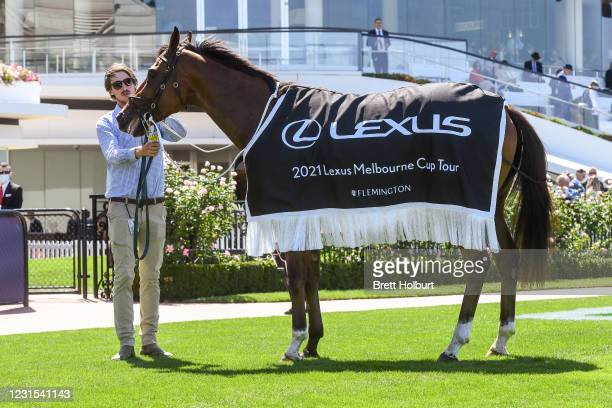 Cumberbatch after winning the 2021 Lexus Melbourne Cup Tour at Flemington Racecourse on March 06, 2021 in Flemington, Australia.