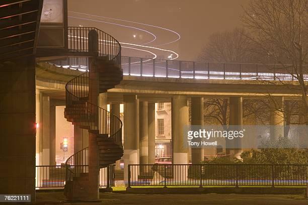 Cumberland Basin, Night, Fog, Bristol, England, UK