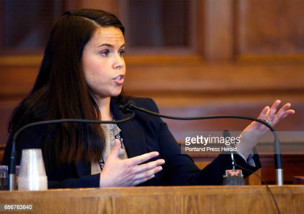 Cumberland County Deputy District Attorney Jennifer Ackerman testifies at a hearing Friday for 17 Black Lives Matter protesters