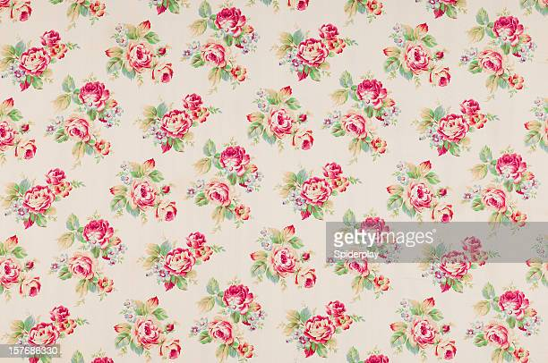 Cumberland Rose Medium Antique Floral Fabric