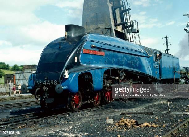 Cumbrian Coast Express 4498 Sir Nigel Gresley poses at Carnforth
