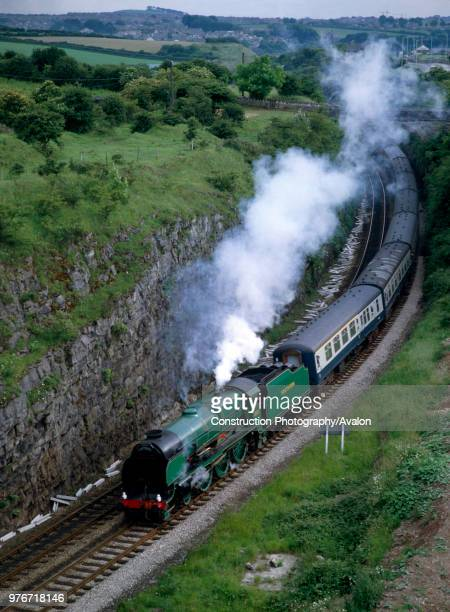 Cumbrian Coast Express No 850 Lord Nelson at Lindal Tunnel en route for Carnforth from Sellafield United Kingdom