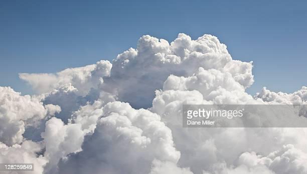 cumulus clouds, aerial view - nube foto e immagini stock