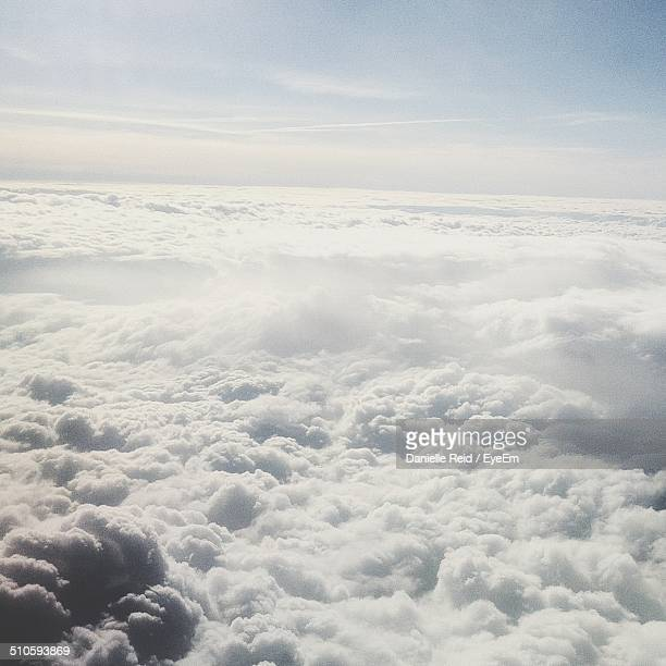Cumulus clouds against sky