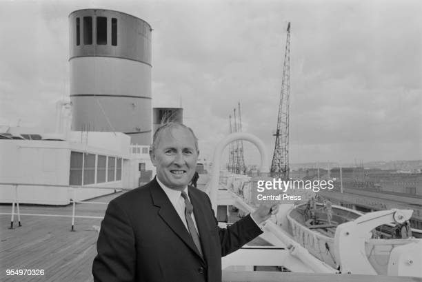 Cunard chairman Sir Basil Smallpeice during a press preview of the liner 'Queen Elizabeth' at Southampton before she leaves for New York after a...