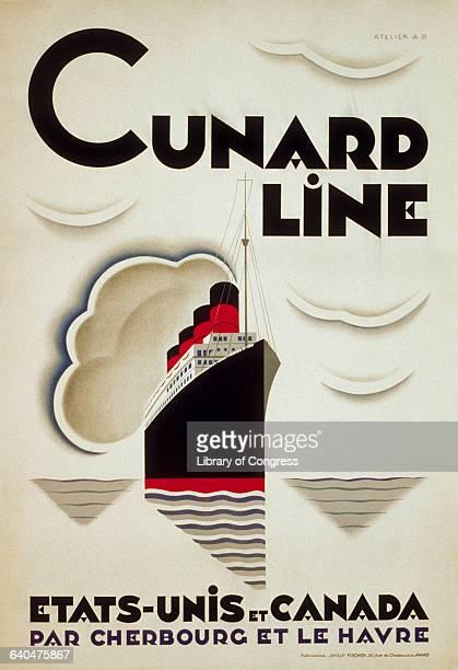 'Cunard Line EtatsUnis et Canada par Cherbourg et Le Havre'
