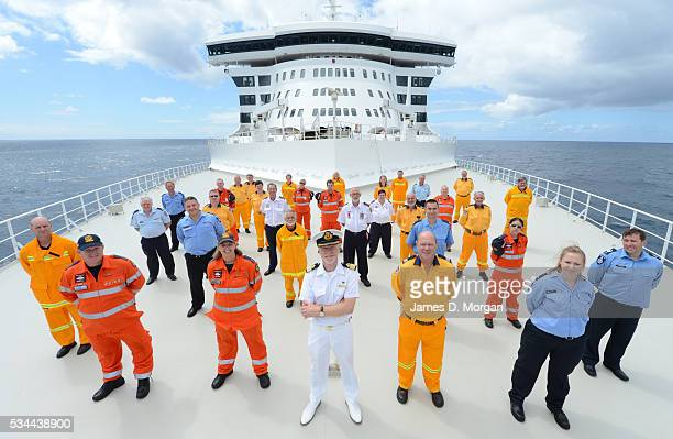 Cunard's Queen Mary 2 arrives into Sydney having travelled from Brisbane with members of the SES services on board to help them recover from the bush...
