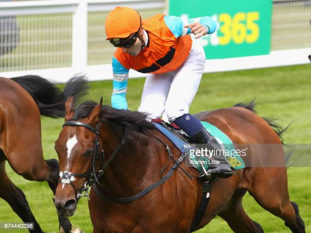 Cunco ridden by Robert Tart wins The bet365 Classic Trial at Sandown Park on April 28 2017 in Esher England