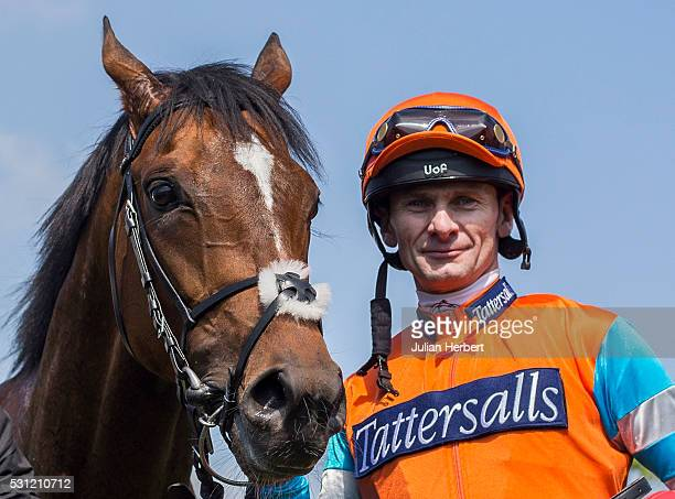 Cunco the first offspring of the champion racehorse Frankel to appear on a racecourse with jockey Robert Havlin after winning Division II of The...