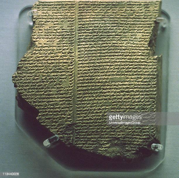 Cuneiform tablet with Gilgamesh Flood Epic. Babylonian, c17th century BC. Southern Iraq. British Museum