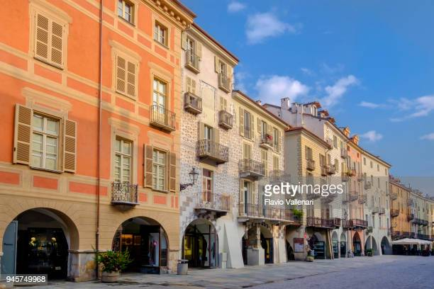 cuneo, via roma - italy - cuneo stock pictures, royalty-free photos & images