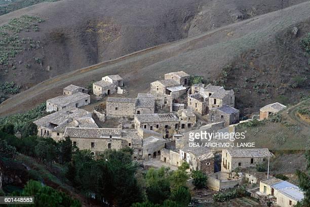 Cunziria abandoned 18th19th century leather craftsmen's village near Vizzini where Giovanni Verga set a scene from Cavalleria Rusticana Sicily Italy