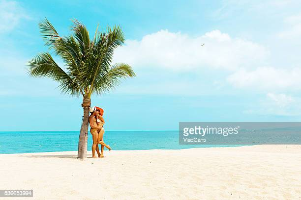 Cuople at tropical beach