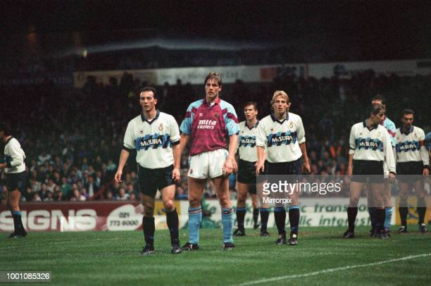 Cup 2nd round 1st leg match Aston Villa 2 0 Inter Milan held at Villa Park Kent Nielsen in the Inter penalty area for a corner kick watched closely...