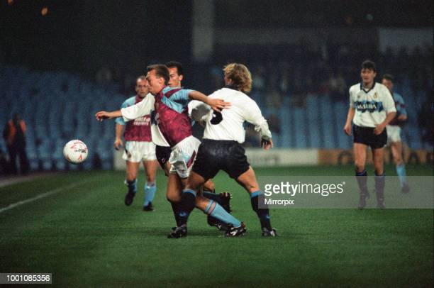 Cup 2nd round 1st leg match Aston Villa 2 0 Inter Milan held at Villa Park David Platt of Villa turns away from Andreas Brehme 24th October 1990