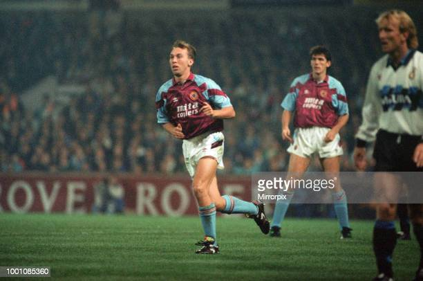 Cup 2nd round 1st leg match Aston Villa 2 0 Inter Milan held at Villa Park David Platt 24th October 1990