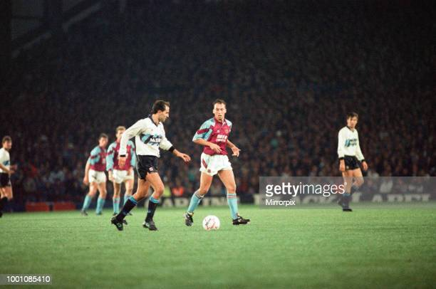 Cup 2nd round 1st leg match Aston Villa 2 0 Inter Milan held at Villa Park Sergio Battistini on the ball watched by Villa's David Platt 24th October...