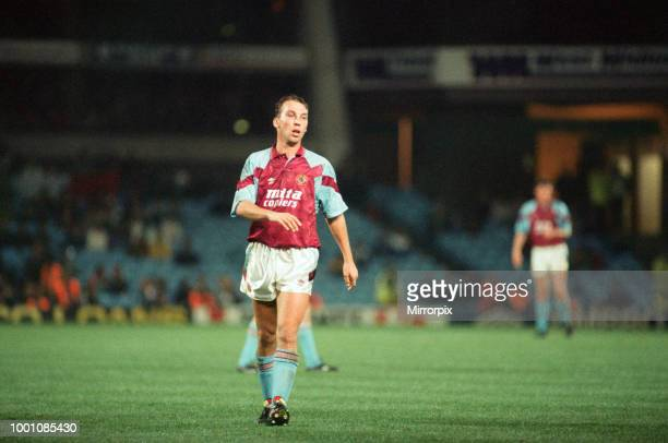 Cup 2nd round 1st leg match Aston Villa 2 0 Inter Milan held at Villa Park David Platt of Villa 24th October 1990