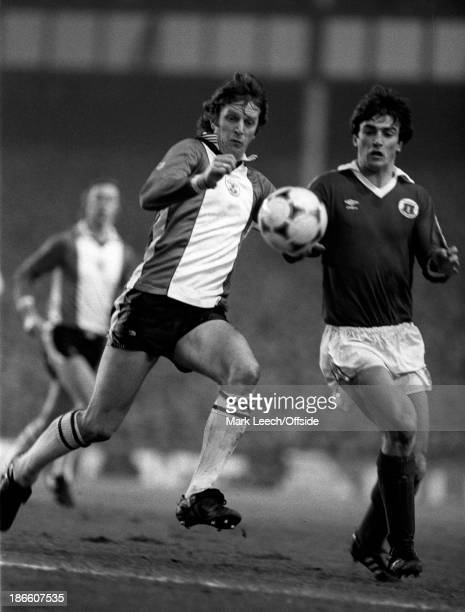 Cup 5th Round Football, Everton v Southampton, Mike Channon and Kevin Ratcliffe.