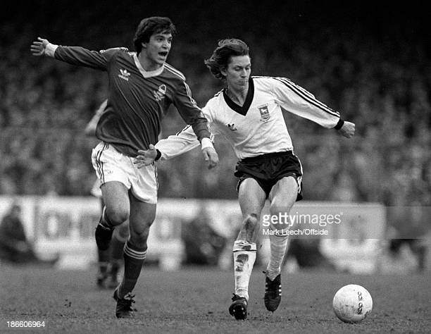 Cup 6th Round Football Nottingham Forest v Ipswich Town Raimondo Ponte and Arnold Muhren