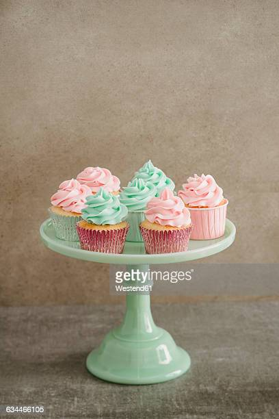 Cup cakes on a cakestand
