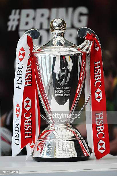 HSBC cup during the HSBC Wellington Sevens Breakfast on January 29 2016 in Wellington New Zealand
