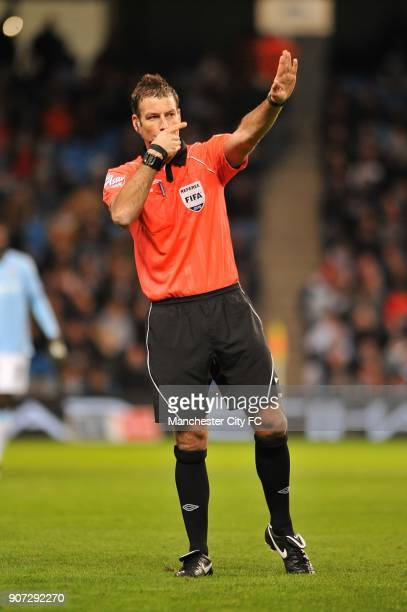 FA Cup Fifth Round Manchester City v Stoke City City of Manchester Stadium Mark Clattenburg match referee