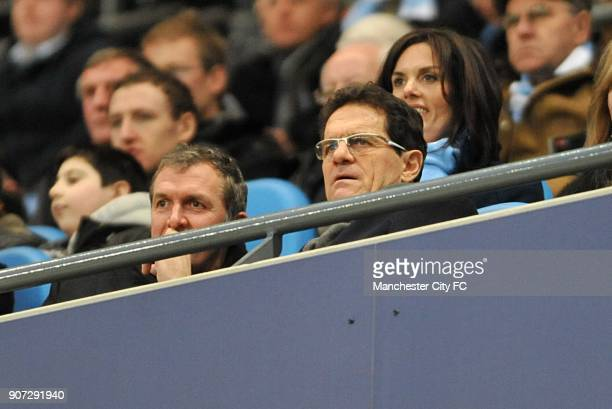 FA Cup Fifth Round Manchester City v Stoke City City of Manchester Stadium England manager Fabio Capello in the stands with Manchester City chief...