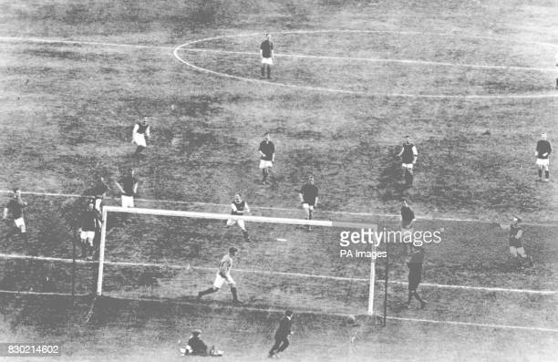 Cup Final at Crystal Palace between Burnley and Liverpool Freeman near penalty spot scores the only goal of the match This was the first cup final...