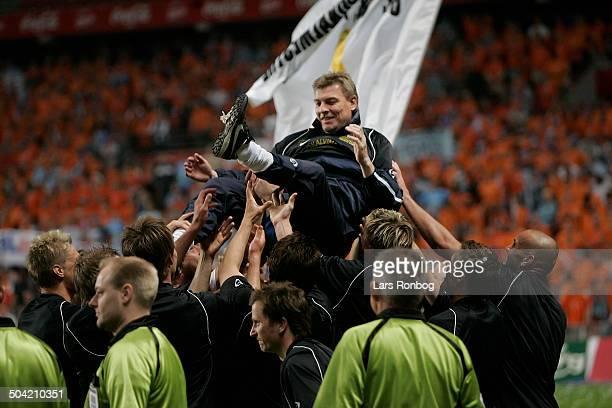 Cup Final Lufttur til Træner Lars Olsen Randers