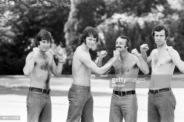 Cup Final Muscle. Southampton FC Players who have all previously played at Wembley. Jim McCalliog, Mike Channon, Peter Rodrigues & Peter Osgood,...