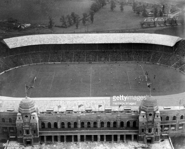 FA Cup Final Wembley Stadium London 1926 Aerial photograph showing the match between Bolton Wanderers and Manchester City in progress Bolton won 10...