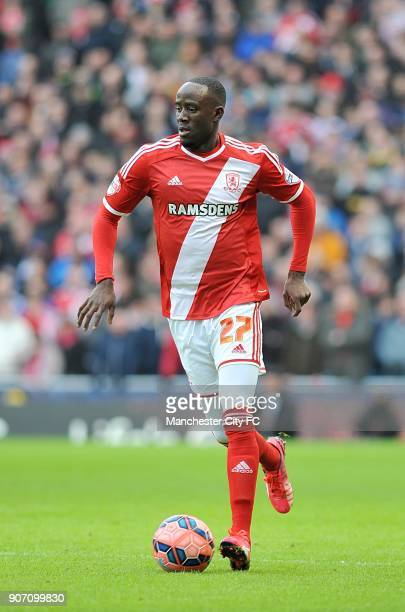 FA Cup Fourth Round Manchester City v Middlesbrough Etihad Stadium Albert Adomah Middlesbrough