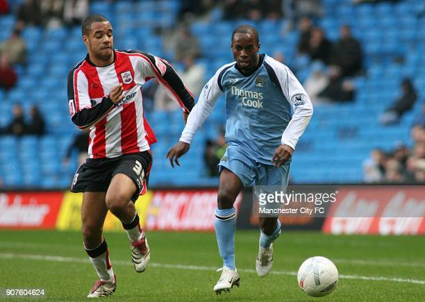 FA Cup Fourth Round Manchester City v Southampton The City of Manchester Stadium Manchester City's DaMarcus Beasley and Southampton's David McGoldrick