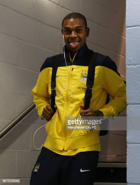 FA Cup Fourth Round Manchester City v Watford Etihad Stadium Manchester City's Fernandinho smiles for the camera as he makes his way to the changing...