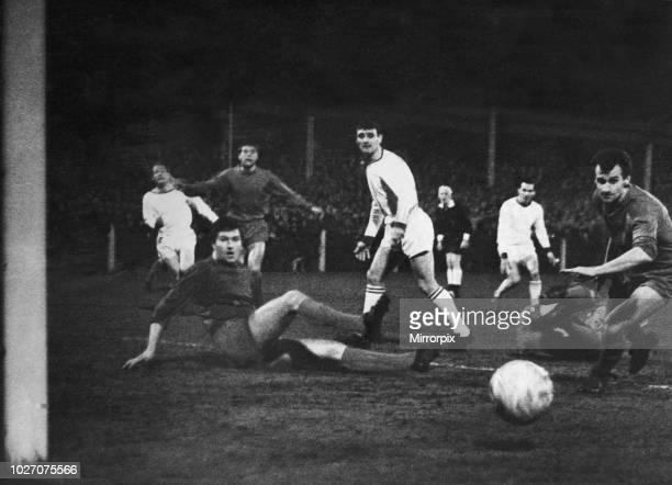 Cup Fourth Round replay match at Prenton Park. Tranmere Rovers 2 v Coventry City 0. Tranmere on the attack during the match. 21st February 1968.