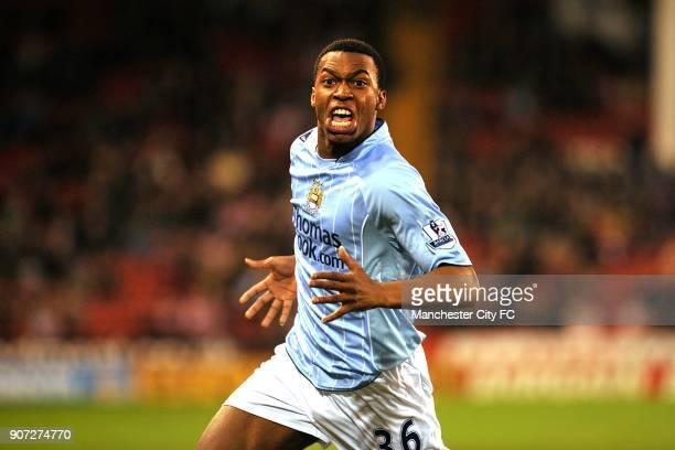 Cup, Fourth Round, Sheffield United v Manchester City, Bramall Lane, Manchester City's Daniel Sturridge celebrates scoring his sides first goal