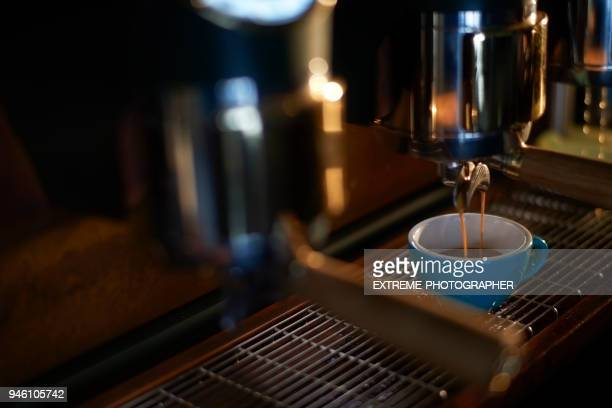 cup in coffee shop - differential focus stock pictures, royalty-free photos & images
