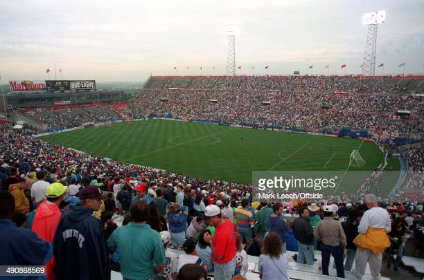 Cup International Football USA v England General View of the Foxboro Stadium in Boston