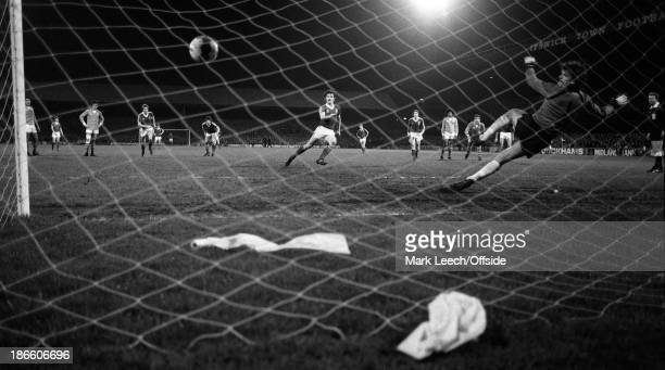 Cup - Ipswich Town v St Etienne, John Wark scores a goal for Town from the penalty spot.