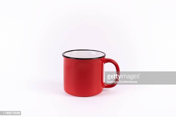 cup, isolated on white - マグカップ ストックフォトと画像