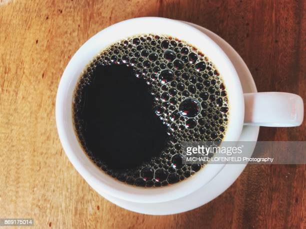 cup of black coffee - black coffee stock pictures, royalty-free photos & images