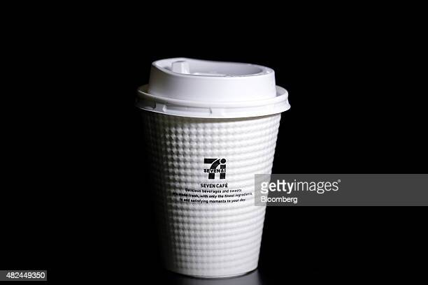 A cup of black coffee sold at a 7Eleven convenience store operated by Seven I Holdings Co is arranged for a photograph in Tokyo Japan on June 30 2015...