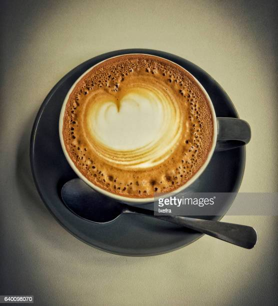 A cup of Cappuccino/Flat White coffee