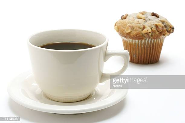 cup of coffee & banana nut muffin