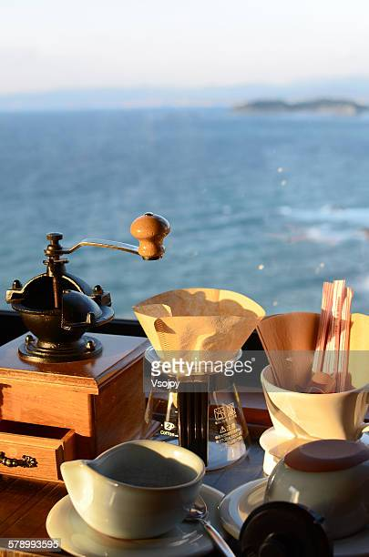 a cup of coffee in a japan ryokan, shirahama - vsojoy stock pictures, royalty-free photos & images